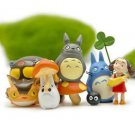 6pc Home Decor Totoro May Coal Bus Set Figure Toys Collectibles Garden Fairies