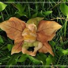 Little Boy Fairy SLEEP ON Leaf Figure Toy Display Mini Gardening Home Decor