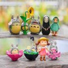 9pc Totoro  Sister No Face mn Figure Toy Fairy Gardens Dollhouse Miniature Set