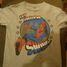 Marvel Comics Spider-Man Youth GreyT-Shirt Size 8 Great Condition