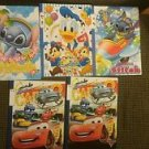 Walt Disney Korea Group of 5 Childrens Workbooks Numbers & Letters