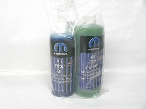 MOPAR Cold Air Intake Filter Recharge Kit Cleaner & Oil
