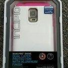Incipio Samsung Galaxy S 5 Dualpro shine white with Pink Edges