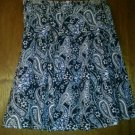 Tommy Hilfiger Blue & White 100% Cotton Pleated Skirt size 4 EUC