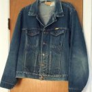 Mens Vintage Rustler Trucker Distressed Denim Blue Jean Jacket Coat Size Large