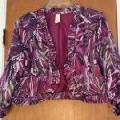 Womens Lavender & Honey Purple Geometric Print Short Jacket Size XL