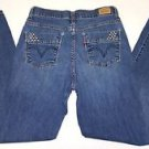 Levi's Perfectly Slimming Womens Stretch Denim Blue Jeans Straight Size W28 L30