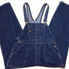 Mens London Denim Blue Jean Carpenter Bib Overalls Size Large 100% Cotton