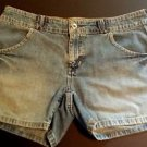Tommy Hilfiger Womens Distressed Cotton Denim Blue Jean Short Shorts size 6