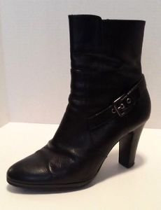 Alfani Vivienne Womens Black Leather Calf Fashion Ankle Boots Size 10 Medium