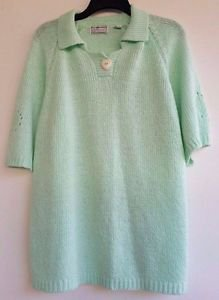 Maggie Lawrence Womens Mint Green Short Sleeve Sweater Plus size 26/28