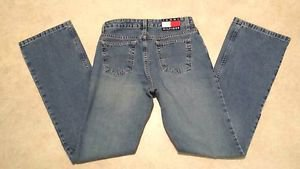 Tommy Jean Womens Juniors Denim Cotton Denim Hipster Flare Blue Jeans Size 3