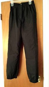 Skigear Womens Black Snow Snowboard Ski Pants Size Small Insulated Waterproof