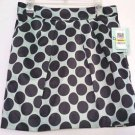 Bar III Front Row Womens Short Polka Dot Skirt Seafoam Green & Black NWT Size M