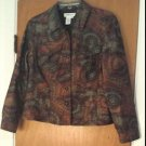 Coldwater Creek Womens Geometric Print Jacket Coat Size PM Trucker Style