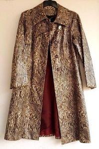 Snake Skin Faux Leather Vintage Designer Coat Size 13-14 Saks Fifth Avenue
