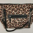 Womens Leaopard Print Large Shoulder Handbag Purse NWT $99 Ellen Tracy Carmen