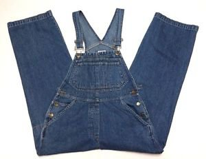 BRUGI American Outpost Distressed Denim Blue Jean Carpenter Bib Overalls Size S