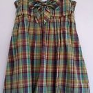 I.N. San Francisco Womens Blue Brown Plaid Bubble Sundress Dress Size M Self Bra