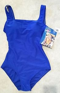 Womens Royal Blue One Piece Bathing Suit Swim Suit Swimwear Size 10 NWT $49.99