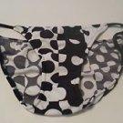 Womens Venus Black & White Polka Dot String Bikini Swimsuit Bottoms Size 2 NWOT
