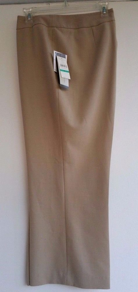 Josephine Chaus Womens Capri Cropped Pants Khaki Knit Size 16 MSRP $59 NWT
