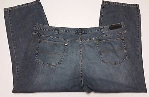 Mens Distressed Denim Blue Jeans Straight Leg Size W50 L30 Concepts by Claiborne