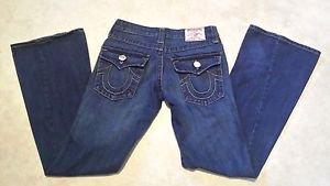 True Religion Joey Big T Flare Leg Twisted Seam Womens Jeans Size 26 L32