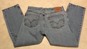 Levi's Men's 505 Distressed Straight Fit Denim Jeans size 36X30