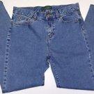 LRL Lauren Jeans Co Ralph Lauren Stretch Denim Blue Jeans Straight Leg Size 6P
