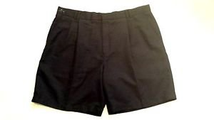 GREG NORMAN MENS PLEATED NAVY BLUE GOLF SHORTS SIZE 40