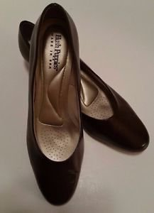 Hush Puppies Womens Brown Soft Style Angel II Pump Heel Shoes Size 9 M