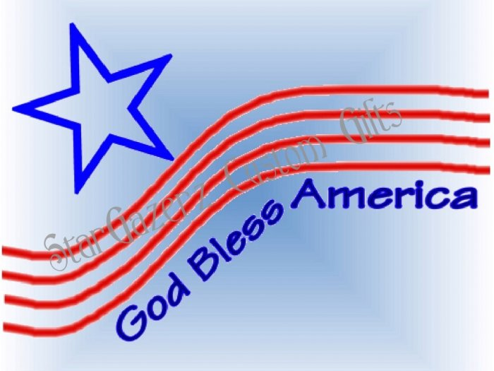 Mouse Pad - God Bless America - Patriotic