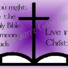 Mouse Pad - Live In Christ - Religious