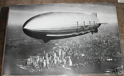 1933 U.S.S. USS MACON DIRIGIBLE LIGHTER THAN AIR POSTER