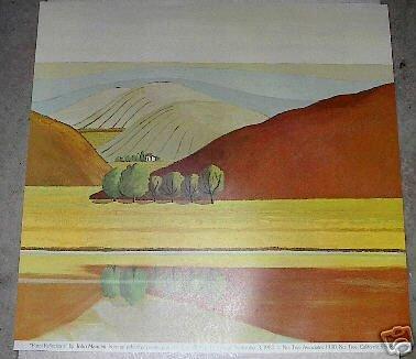 1980 JOHN MANCINI NUT TREE LANDSCAPE POSTER PRINT VACAVILLE, CA free shipping