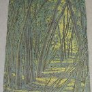 1984 RUTH DICKER NUT TREE LANDSCAPE POSTER PRINT