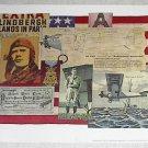 VINTAGE 1966 GORDON BRUSSTAR CHARLES LINDBERGH IN PARIS POSTER NUT TREE (free shipping)