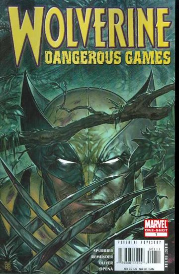 WOLVERINE DANGEROUS GAME ONE SHOT m/nm (2008)