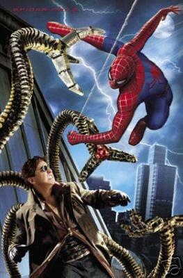 2004 SPIDERMAN vs DOC OCK POSTER 22x34  SPIDER-MAN