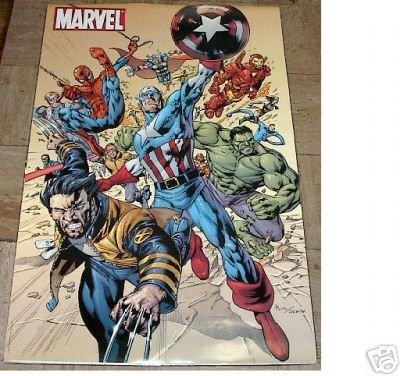 2003 MARVEL UNIVERSE POSTER CAPTAIN AMERICA SPIDERMAN SPIDER-MAN