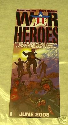 WAR HEROES PROMO POSTER 9 x 24 (2008)