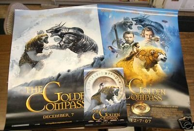 x3 THE GOLDEN COMPASS MOVIE POSTER LOT OF 3 27x40
