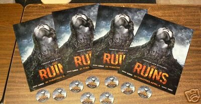 THE RUINS MOVIE POSTER x4 plus 10 movie stickers