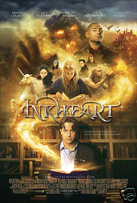 INKHEART Advance Promotional MOVIE POSTER FREE SHIPPING BRENDAN FRASER