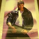 VINTAGE 1987 KIRK CAMERON POSTER IN LEATHER 22x34