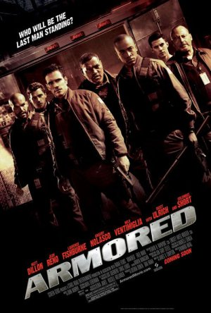 ARMORED MOVIE POSTER MATT DILLON Laurence Fishburne 27 x 40