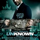 UNKNOWN mini MOVIE POSTER  11 1/2 x17 LIAM NEESON Free shipping