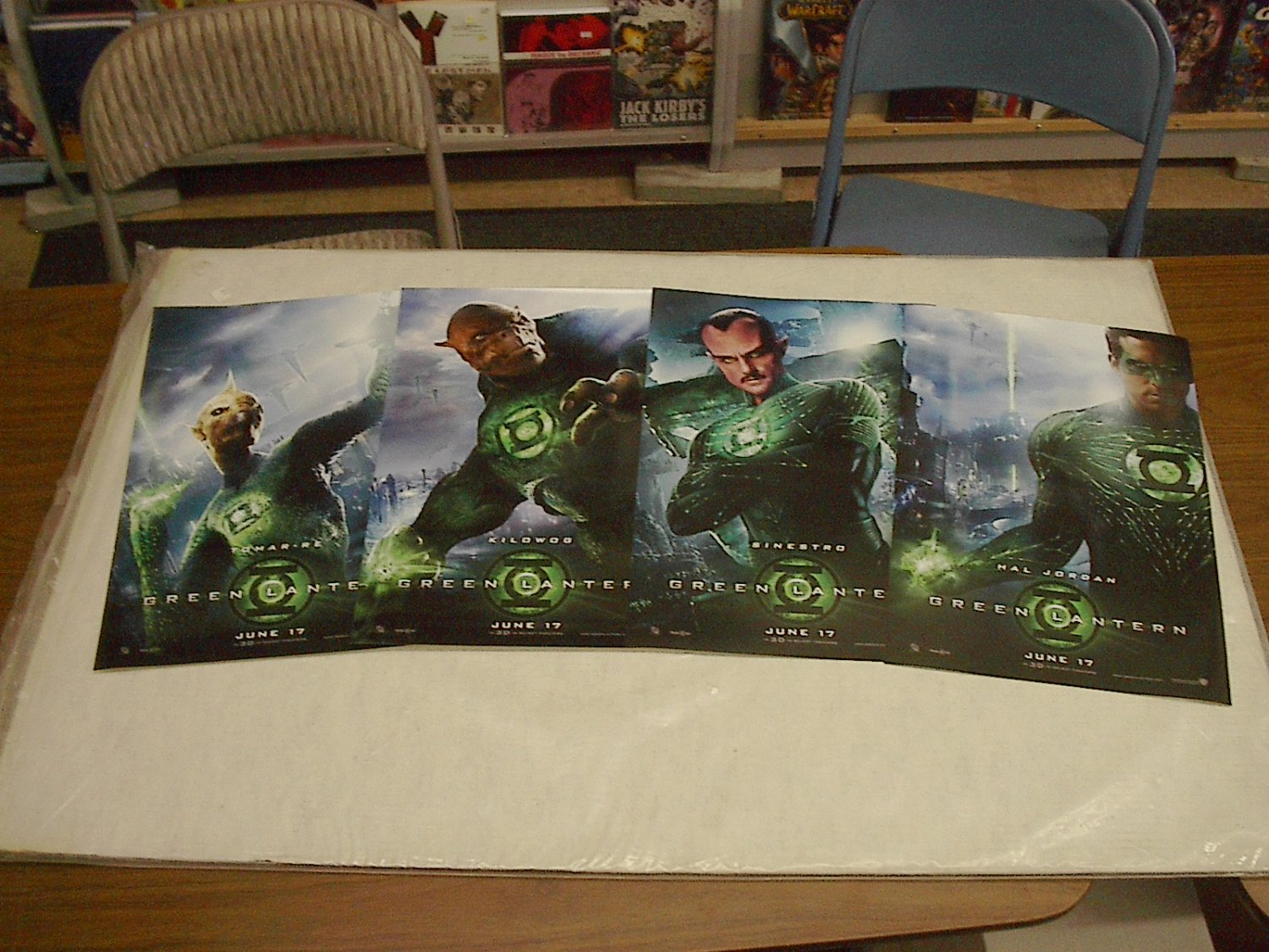 MOVIE POSTER LOT OF 4 GREEN LANTERN POSTERS free shipping