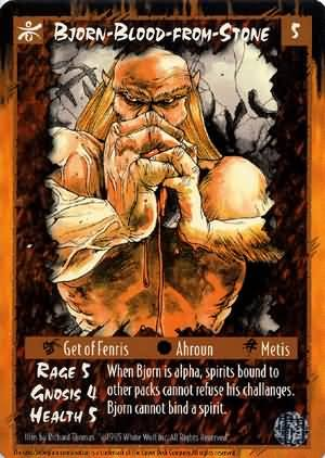 Rage Bjorn-Blood-from-Stone (The Umbra) near mint card